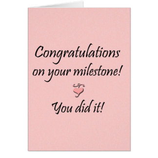 Milestone (From one) Card