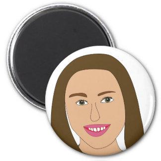 Miley Cyrus 2 Inch Round Magnet