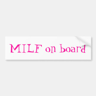 MiLf a bordo pegatina para el parachoques Pegatina Para Auto
