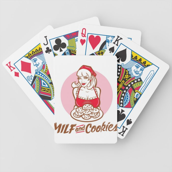 MILF AND COOKIES pink Bicycle Playing Cards