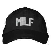 MILF EMBROIDERED BASEBALL HAT