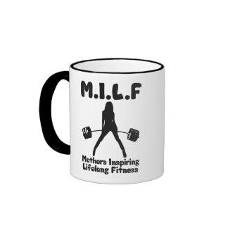 MILF - Mima a aptitud de por vida inspiradora Taza A Dos Colores