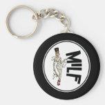 MILF Retro Mummy Pinup Girl Basic Round Button Keychain