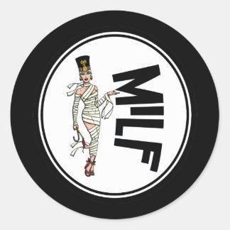MILF Retro Mummy Pinup Girl Stickers