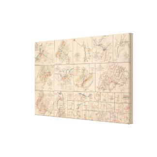 Milford, Brock's Gap, Moorefield, New Creek, etc Canvas Print