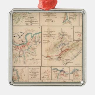 Milford, Brock's Gap, Moorefield, New Creek, etc Square Metal Christmas Ornament