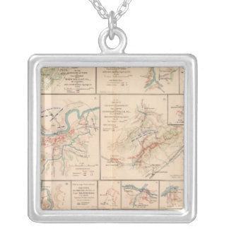 Milford, Brock's Gap, Moorefield, New Creek, etc Square Pendant Necklace