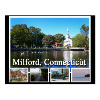 Milford Connecticut Multiview Postcard