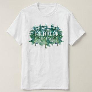 Milford PA established 1796 Pine Tree Design T-Shirt