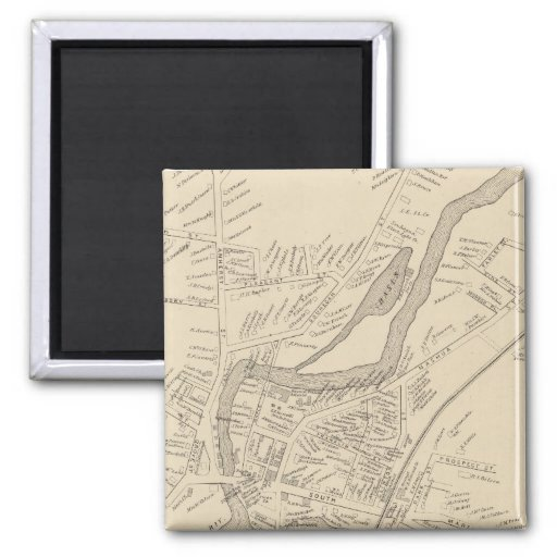 Milford PO 2 Inch Square Magnet