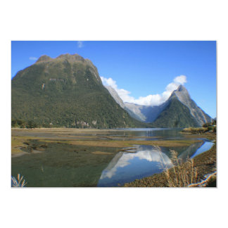 Milford Sound Bay, Mitre Peak, New Zealand Card
