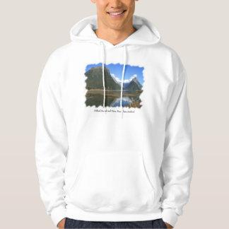 Milford Sound Bay, Mitre Peak, New Zealand Hoodie