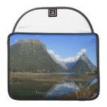 Milford Sound Bay, Mitre Peak, New Zealand Sleeve For MacBooks