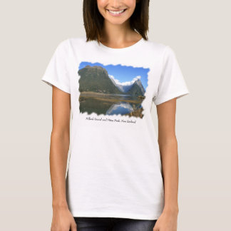 Milford Sound Bay, Mitre Peak, New Zealand T-Shirt