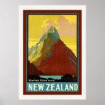 ~ Milford Sound del pico del inglete del ~ de Nuev Poster