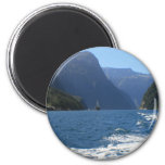 Milford Sound, New Zealand 2 Inch Round Magnet