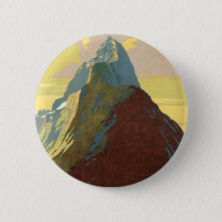 Milford Sound New Zealand Mountain Pinback Button