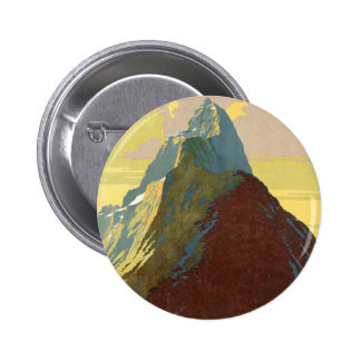 Milford Sound New Zealand Mountain Pinback Button