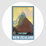 Milford Sound New Zealand Mountain Classic Round Sticker
