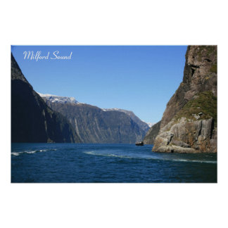 Milford Sound, New Zealand -  Poster