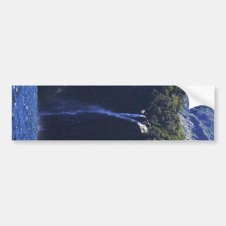 Milford Sound (Piopiotahi) Waterfall Bumper Sticker