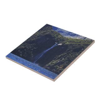 Milford Sound (Piopiotahi) Waterfall Ceramic Tile