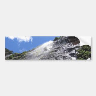 Milford Sound (Piopiotahi) Waterfall Up Close POV Bumper Sticker