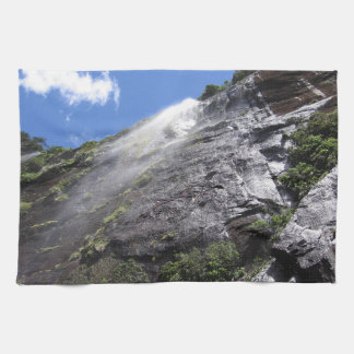 Milford Sound (Piopiotahi) Waterfall Up Close POV Kitchen Towels