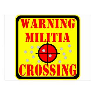Milicia amonestadora que cruza #002 postal