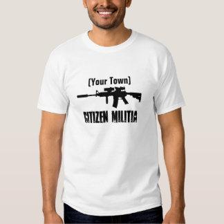 Milicia de la ciudad natal (personalizable) remeras