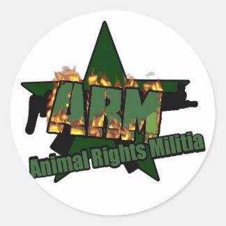 Milicia de los derechos de los animales etiquetas