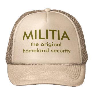 MILICIA, la seguridad de patria original Gorros Bordados