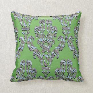 Miliscent Keller  Damask Throw Pillow
