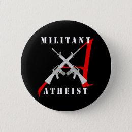 Militant Atheist black button