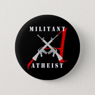 Militant Atheist black button
