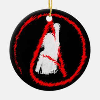 Militant Atheist Ceramic Ornament