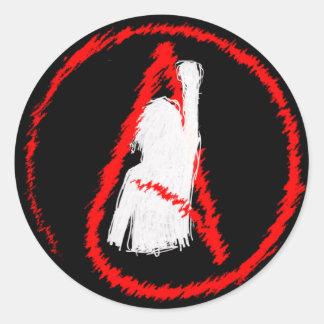 Militant Atheist Classic Round Sticker