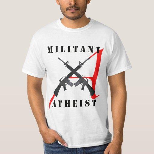 Militant Atheist Men's Shirt