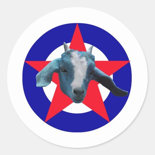 Militant Goat Classic Round Sticker