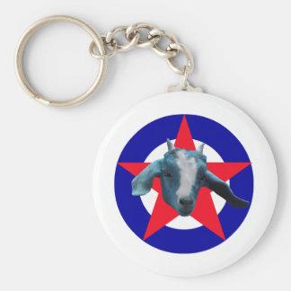 Militant Goat Keychain