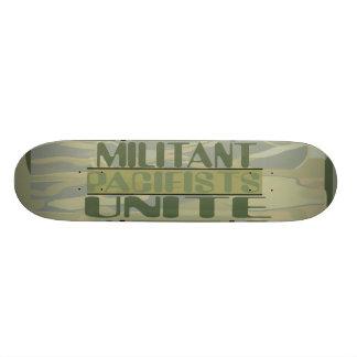 Militant Pacifists Unite Skateboard