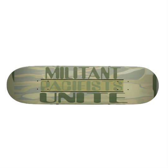 Militant Pacifists Unite Skateboard