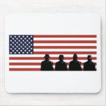 militar americano de los militares del soldado tapete de raton