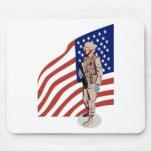 Militar americano de los militares del soldado alfombrillas de ratón