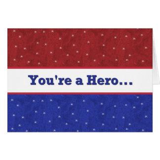 Militar - apoye a nuestras tropas - usted es un tarjeta de felicitación