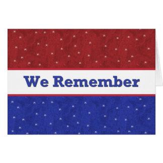 Militar - Memorial Day Tarjeta De Felicitación
