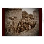 Militares afroamericanos que despejan edificios