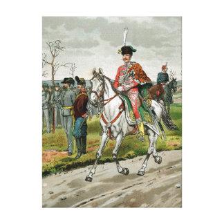 Militares austrohúngaros del imperio lienzo envuelto para galerías