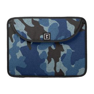 Militares azules de Camo mangas de Macbook de 13 Fundas Macbook Pro