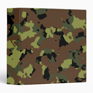 "Militares Camo del verde de musgo Carpeta 1 1/2"""